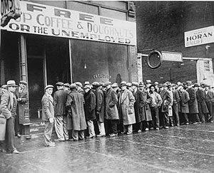 1930s unemployment line