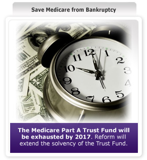 Medicare Trust Fund Bankruptcy (Source healthreform.gov)