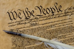 U.S. Constitution and Quill Pen