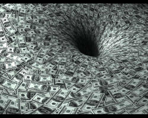 Money Black Hole - The National Debt &quot;Death Spiral&quot; Visualized!